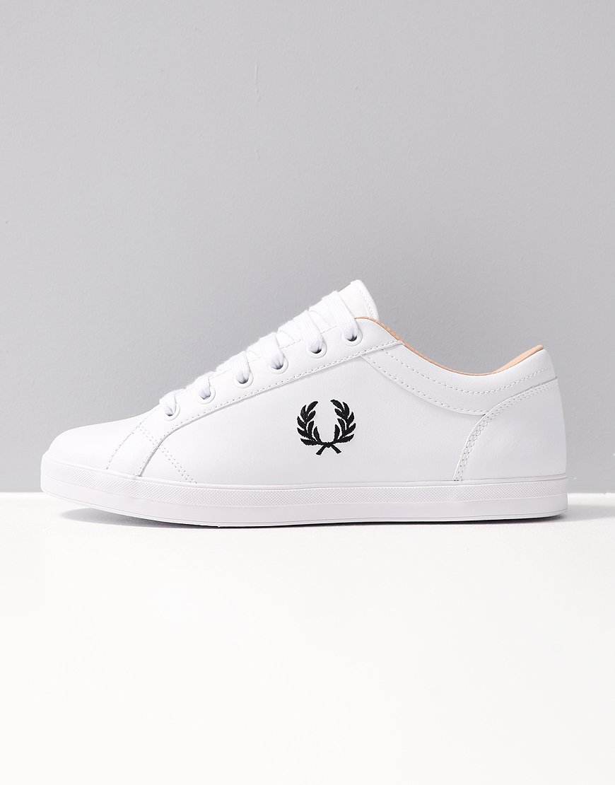 Fred Perry Baseline Leather Trainers White