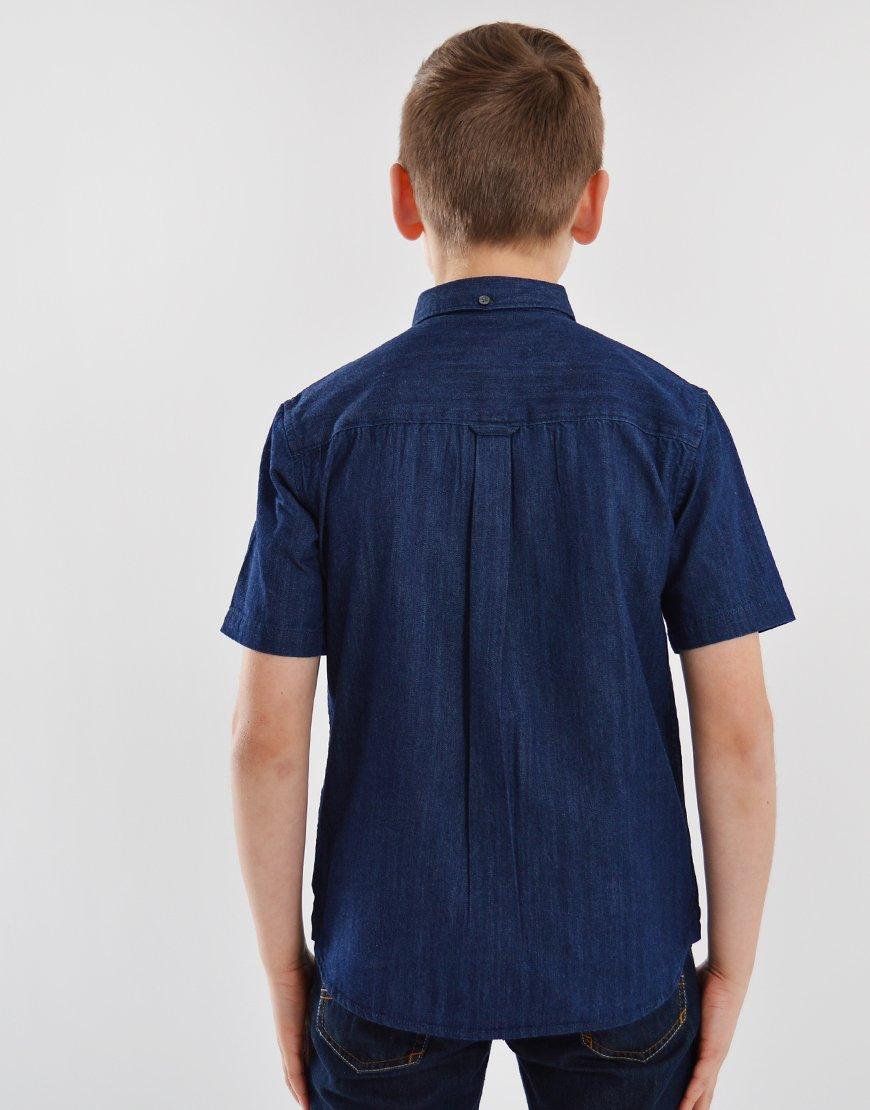 Lyle & Scott Junior Denim Shirt Light Indigo