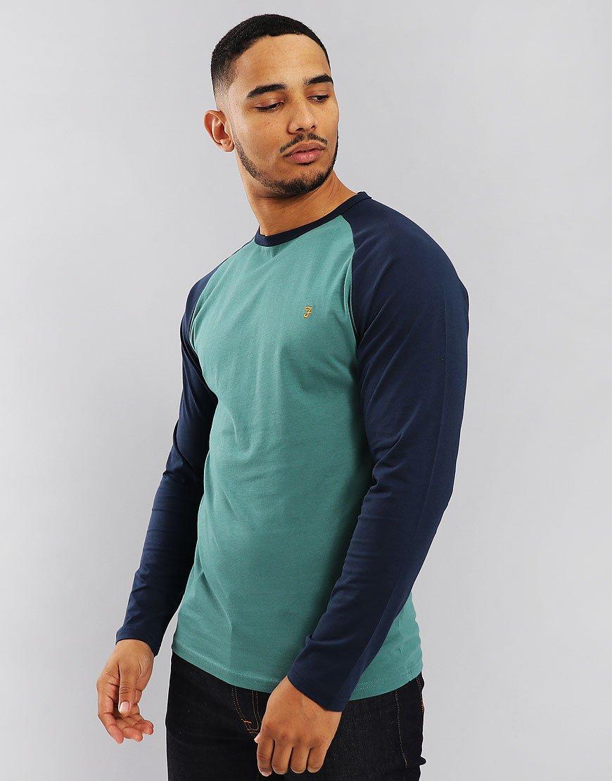 Farah Zemlak Raglan Long Sleeved T-Shirt Saxe
