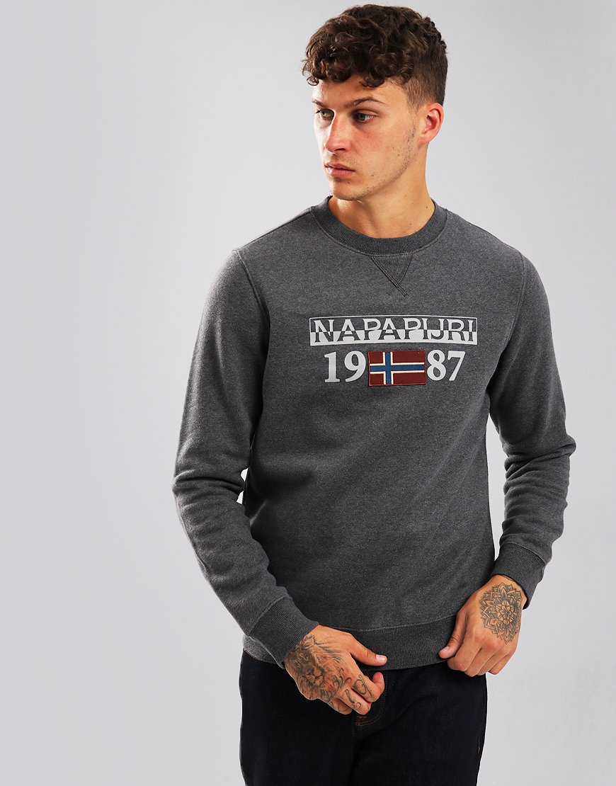 Napapijri Berthow Crew Sweat Dark Grey Melange