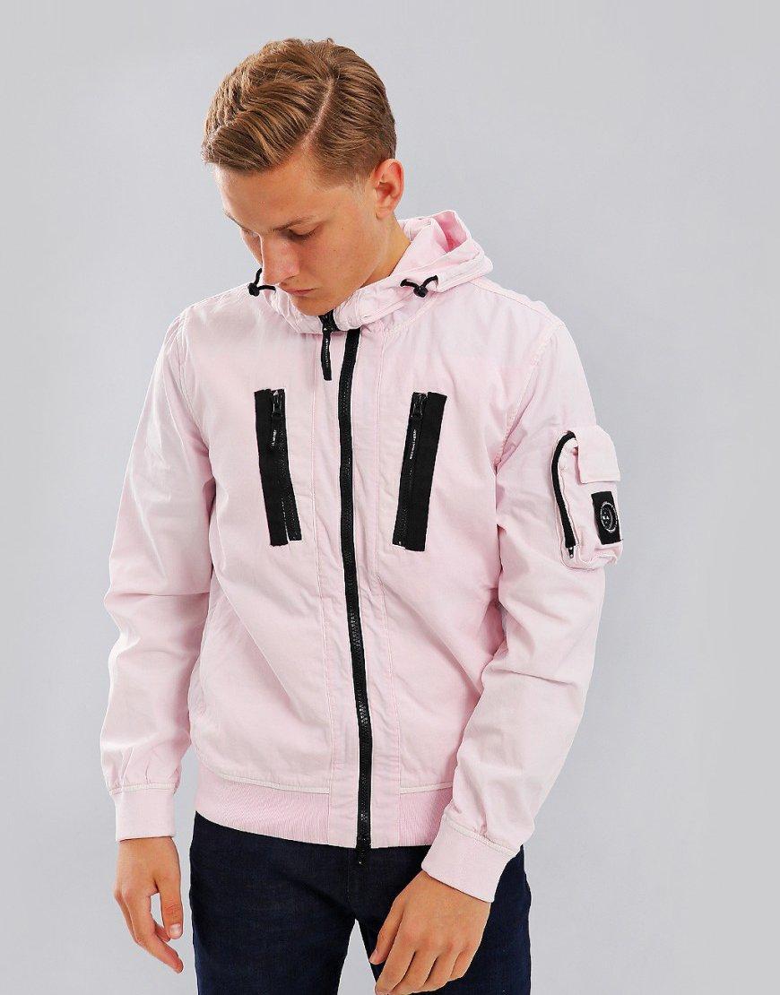 Marshall Artist Garment Dyed Bomber Pink