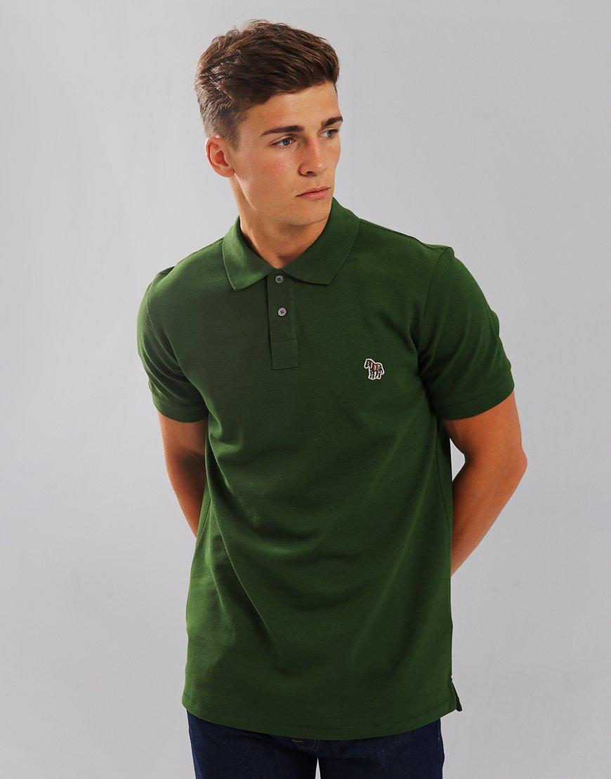 Paul Smith Zebra Logo Polo Shirt Light Green