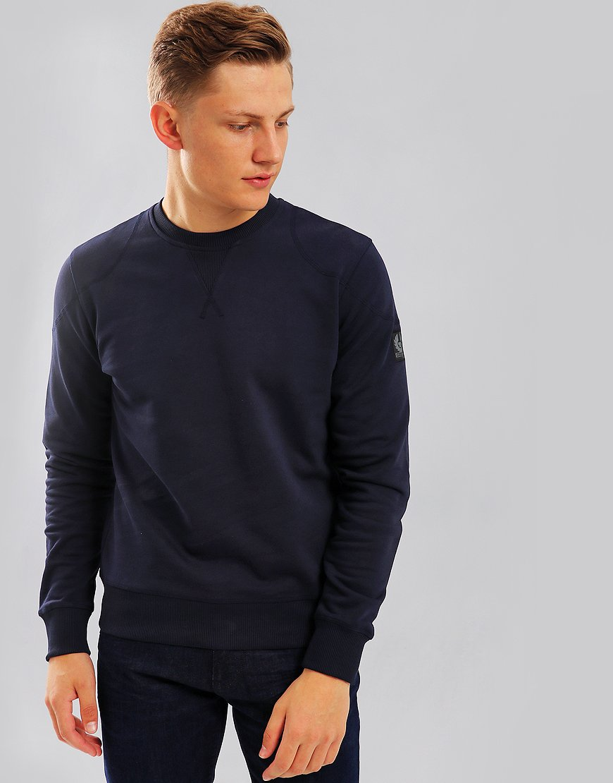 Belstaff Jefferson Crew Sweat Navy
