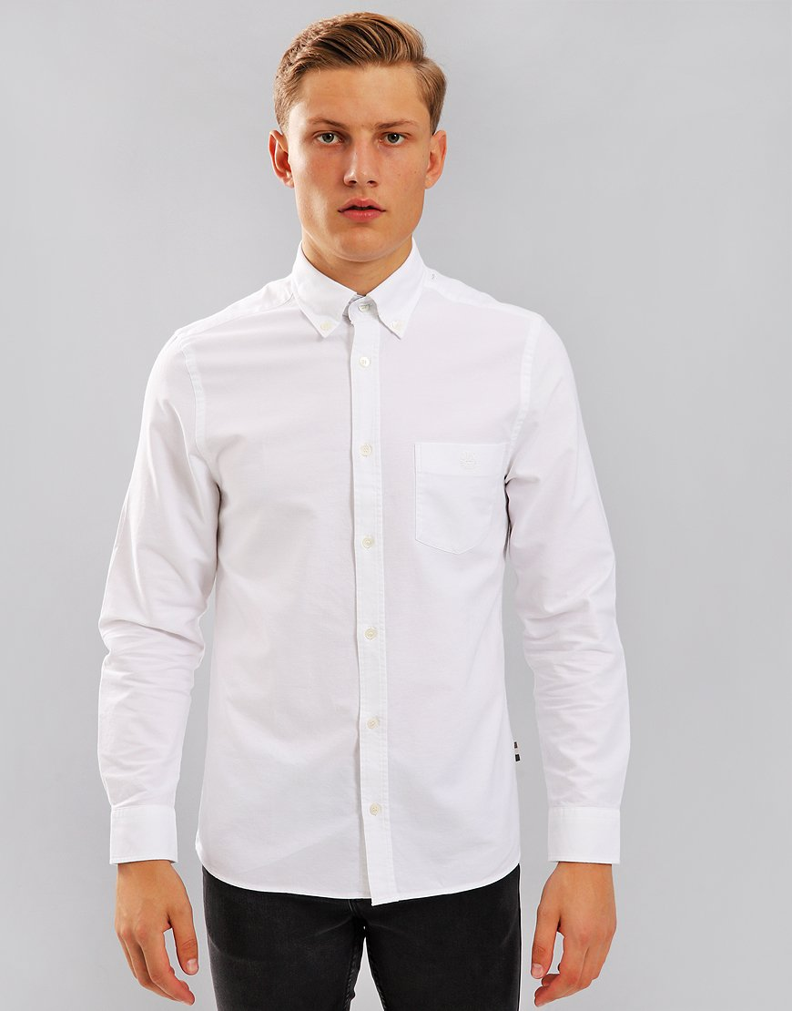 Aquascutum Bevan Long Sleeved Shirt White