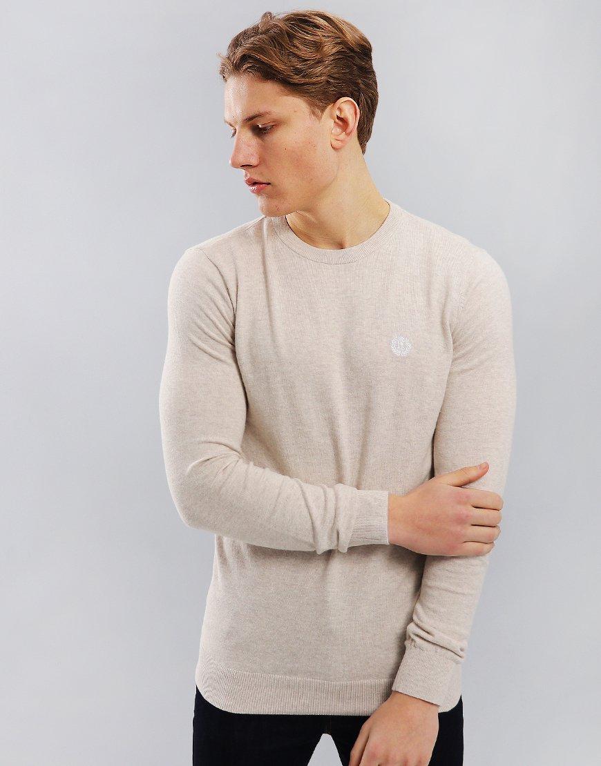 Henri Lloyd Miller Crew Knit Oyster Grey