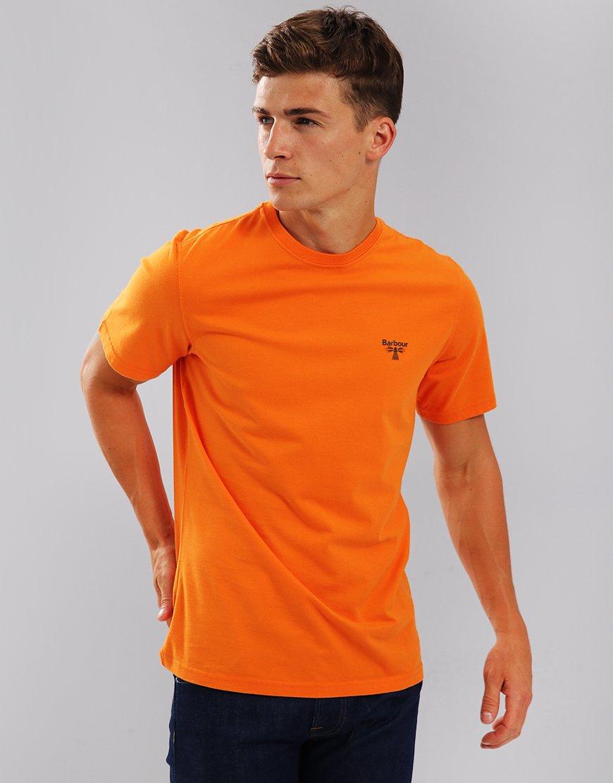 Barbour Beacon Logo T-Shirt Heritage Orange