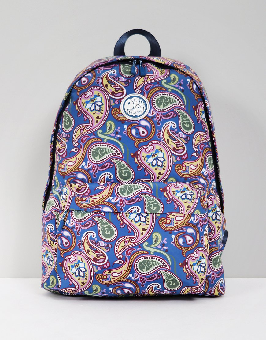 Pretty Green Paisley Nylon Backpack