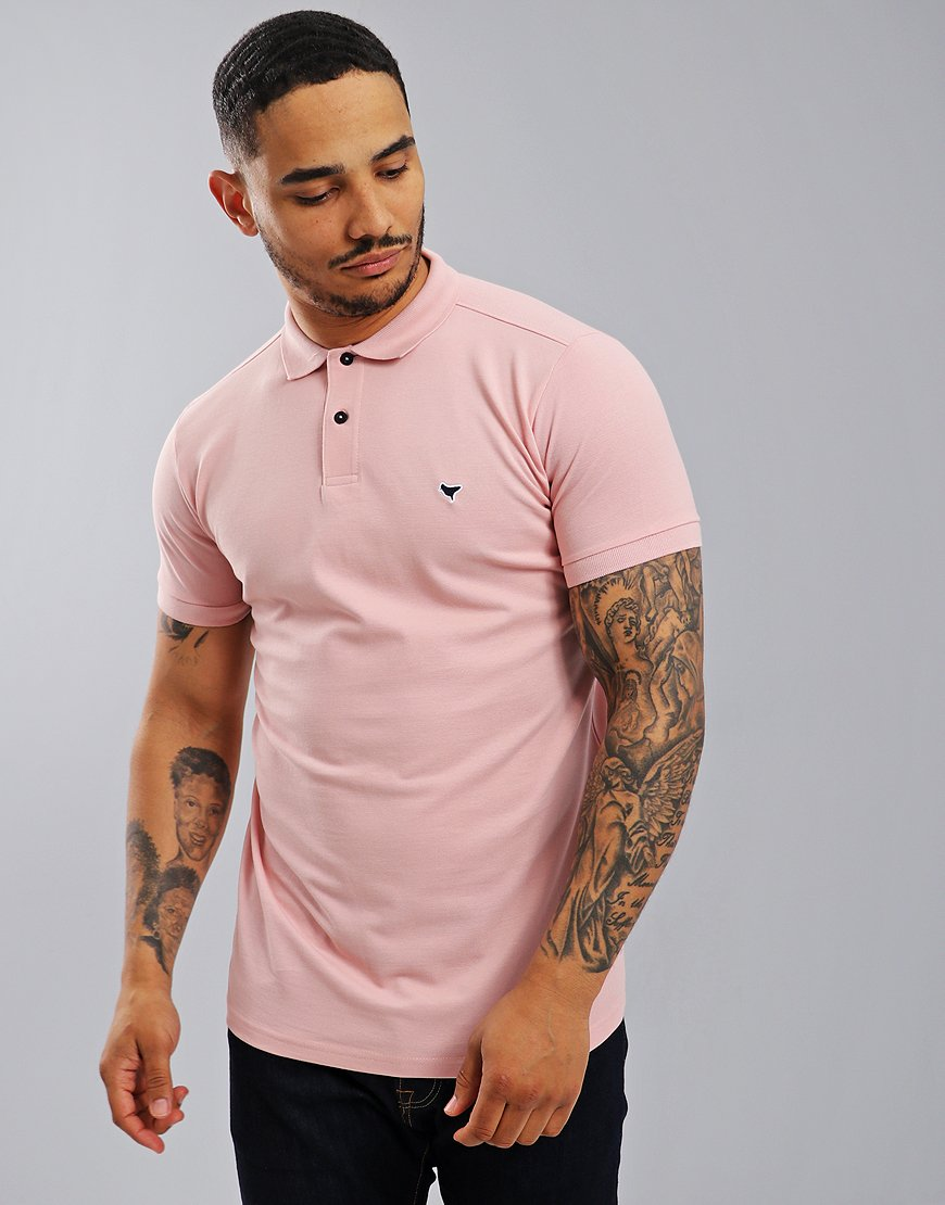 Weekend Offender Dove Polo Shirt Rose