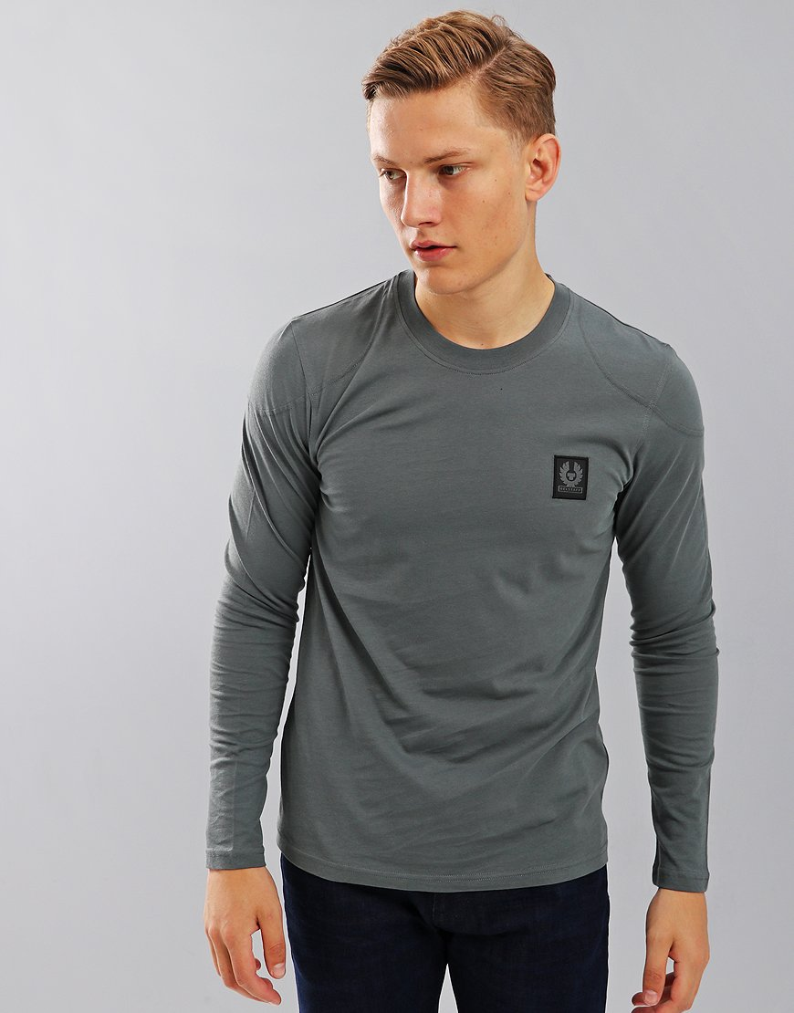 Belstaff Trenham Long Sleeve T-Shirt Blue Flint