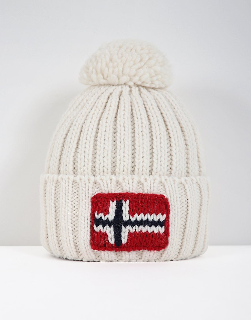 Napapijri Semiury Bobble Hat  Bright White