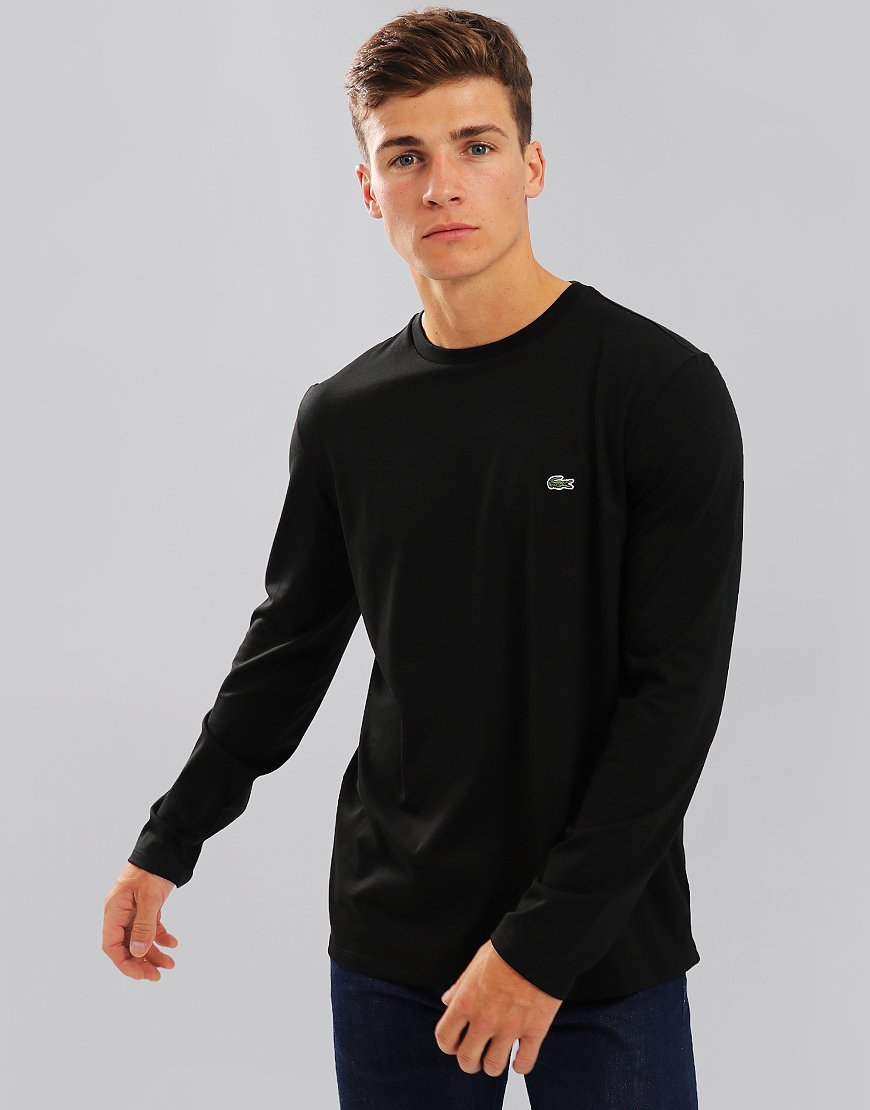 Lacoste Pima Cotton Crew Neck Jersey T-shirt Black