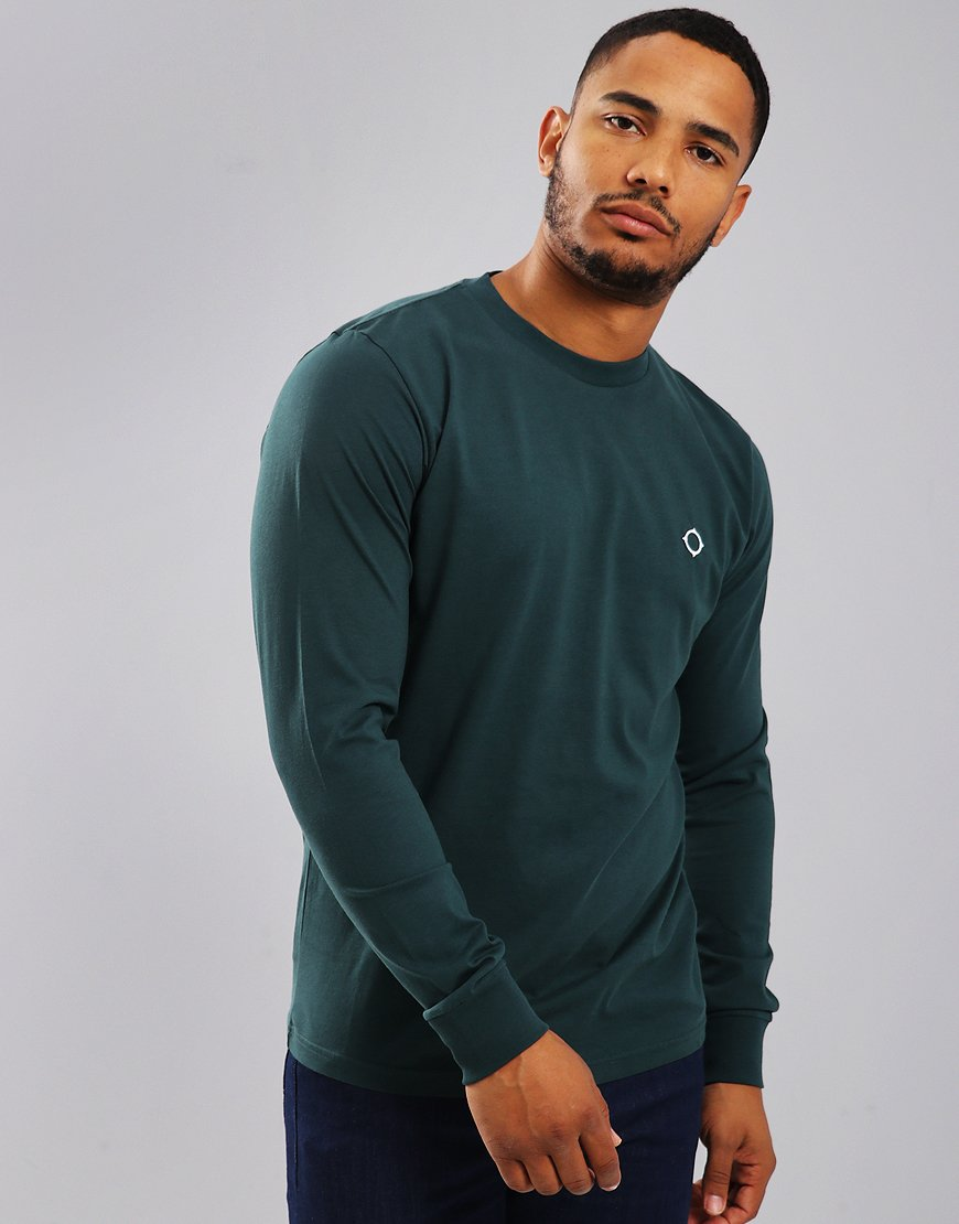 MA.Strum Long Sleeve Icon Tee Petrol