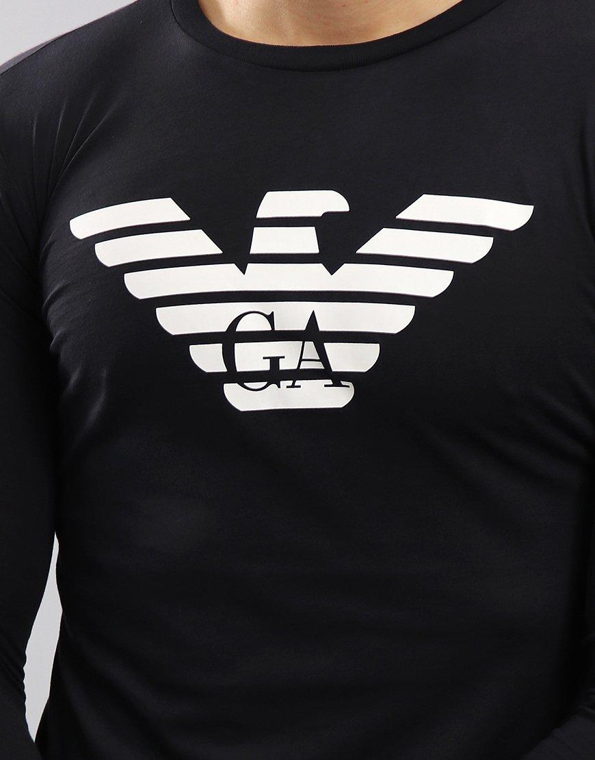 Emporio Armani Long Sleeved Eagle T-Shirt Dark Blue