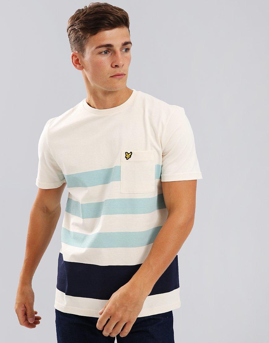 Lyle & Scott Wide Stripe T-Shirt Seashell White