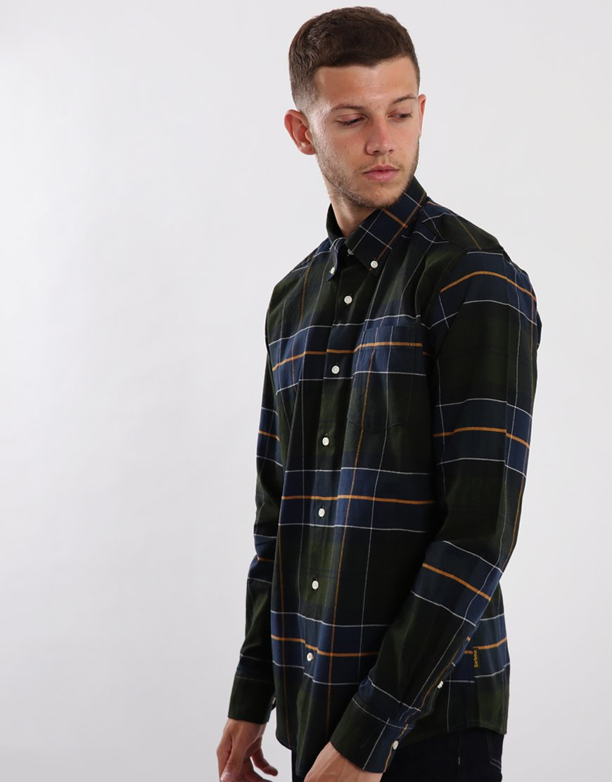 Barbour Lustleigh Long Sleeve Shirt Forest