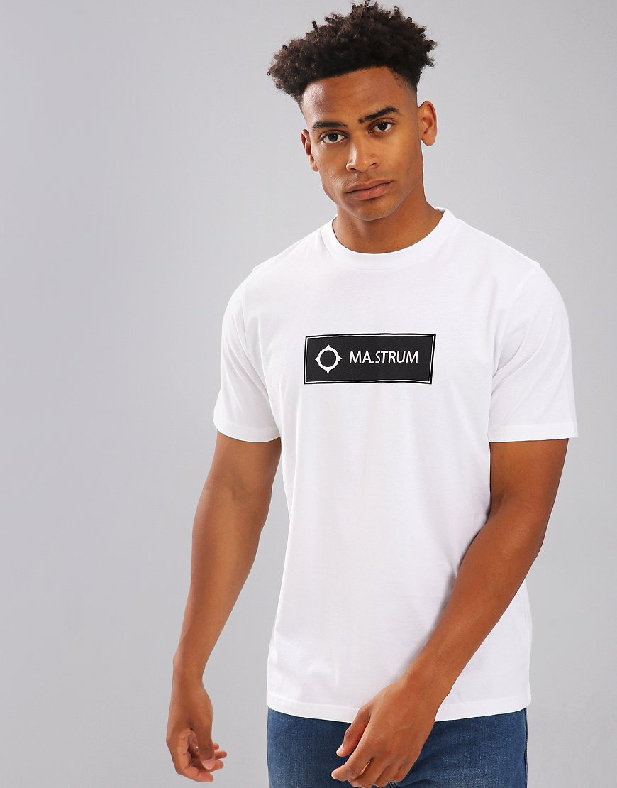MA.Strum Icon Box Print Logo T-Shirt White