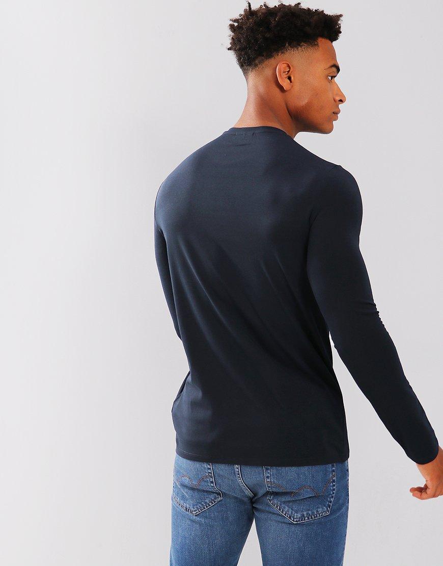 9849b482fbe5 Emporio Armani Long Sleeve T-Shirt Dark Blue - Terraces Menswear