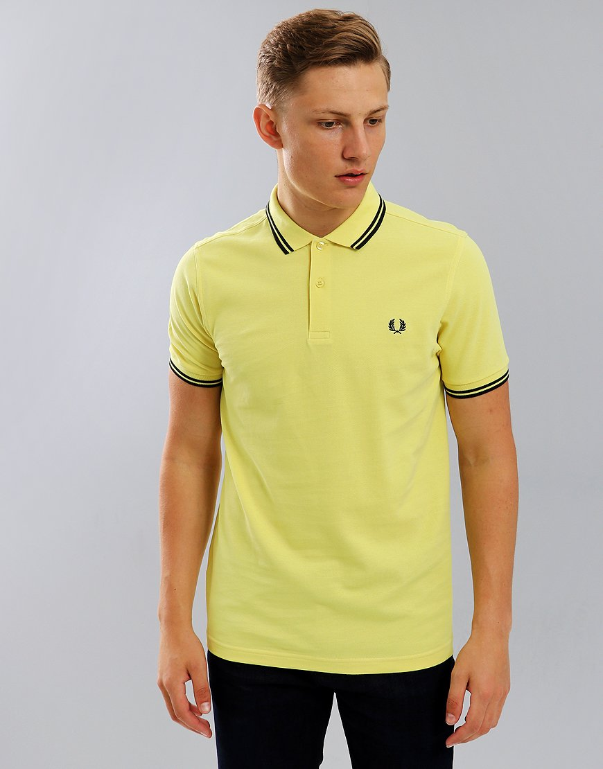 Fred Perry Twin Tipped Polo Shirt  Chartreuse