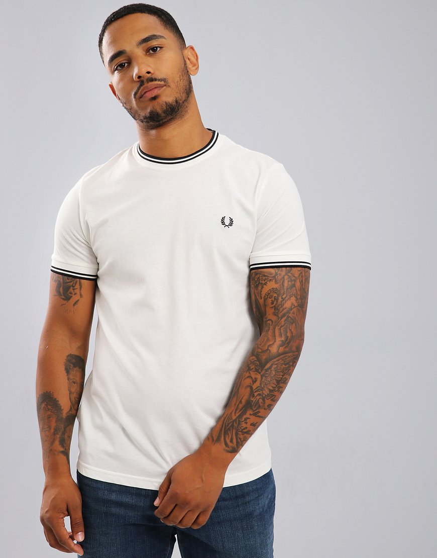 Fred Perry Tipped T-Shirt Snow White