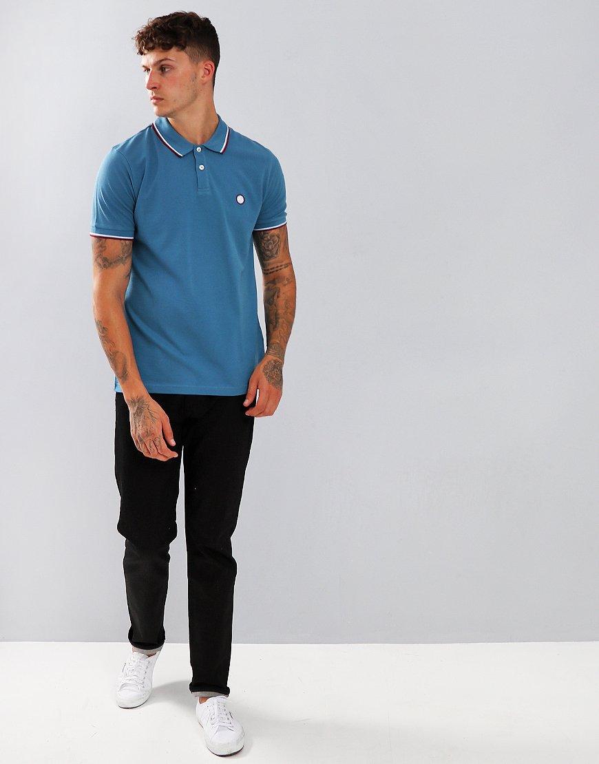 Pretty Green Short Sleeved Barton Polo Shirt Blue