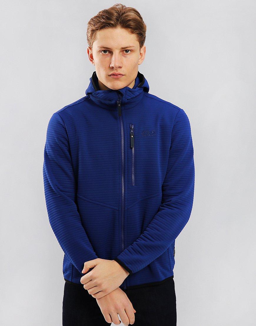 Jack Wolfskin Modesto Ribbed Full Zip Hoody Royal Blue