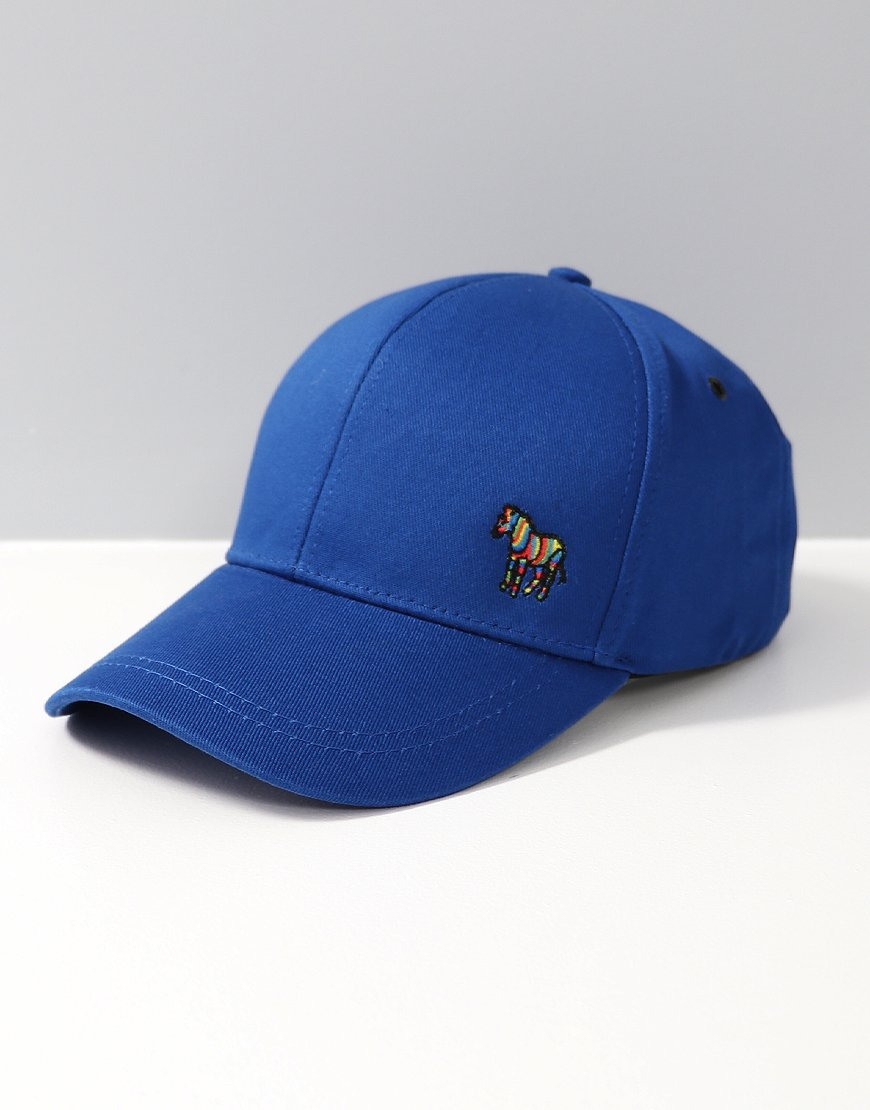 f7561f3376f Paul Smith Zebra Logo Baseball Cap Blue - Terraces Menswear