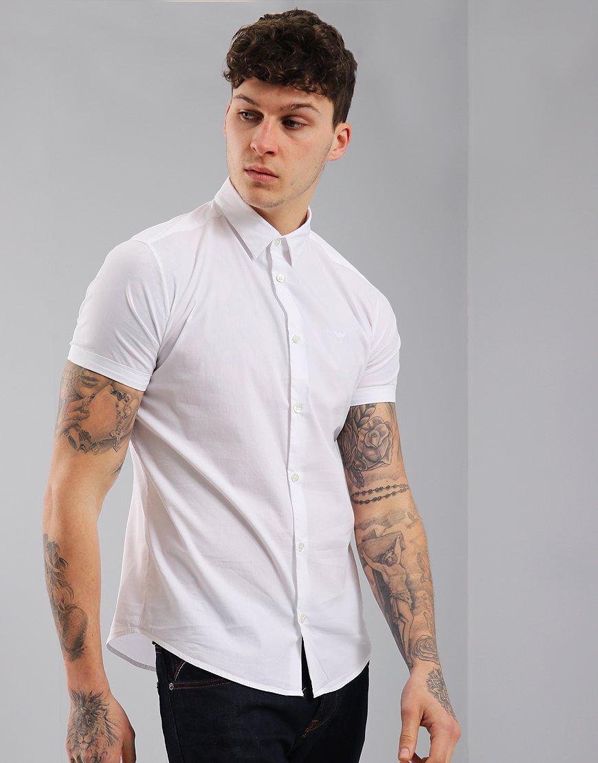 Emporio Armani Woven Shirt White