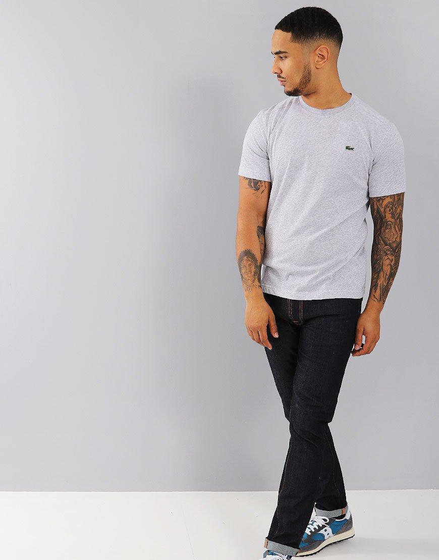 cfb09cd3 Lacoste Sport Plain T-Shirt Silver Chine - Terraces Menswear