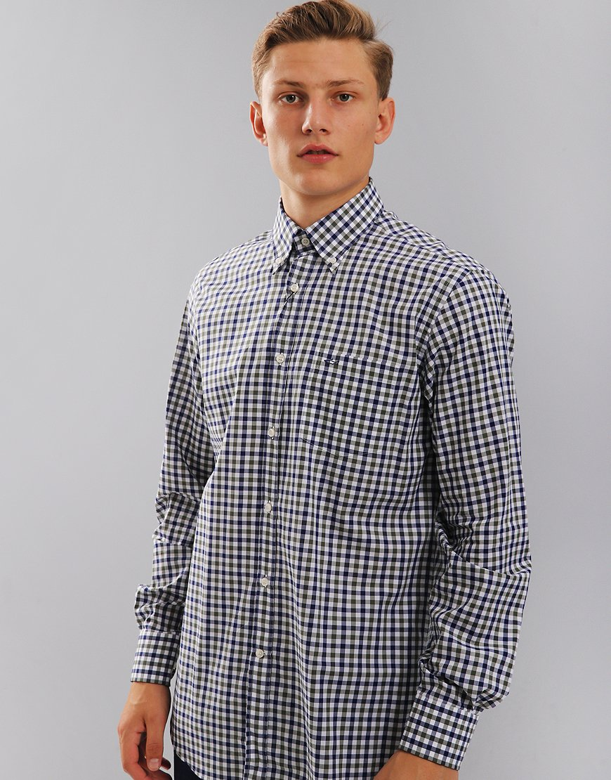 Paul & Shark Regular Fit Button Down Check Shirt Blue