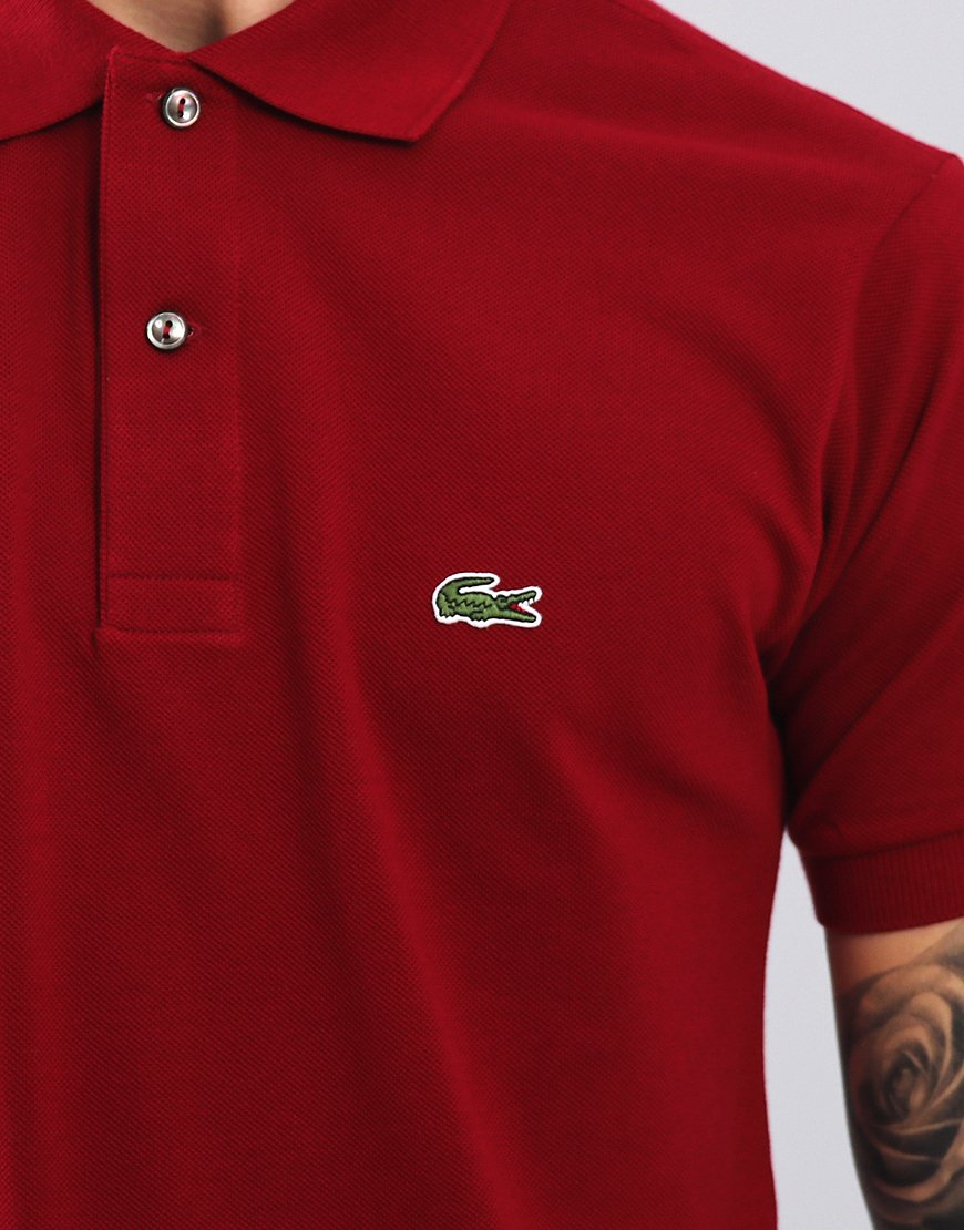 7ddf6d214c1a Lacoste L.12.12 Best Polo Shirt Bordeaux - Terraces Menswear