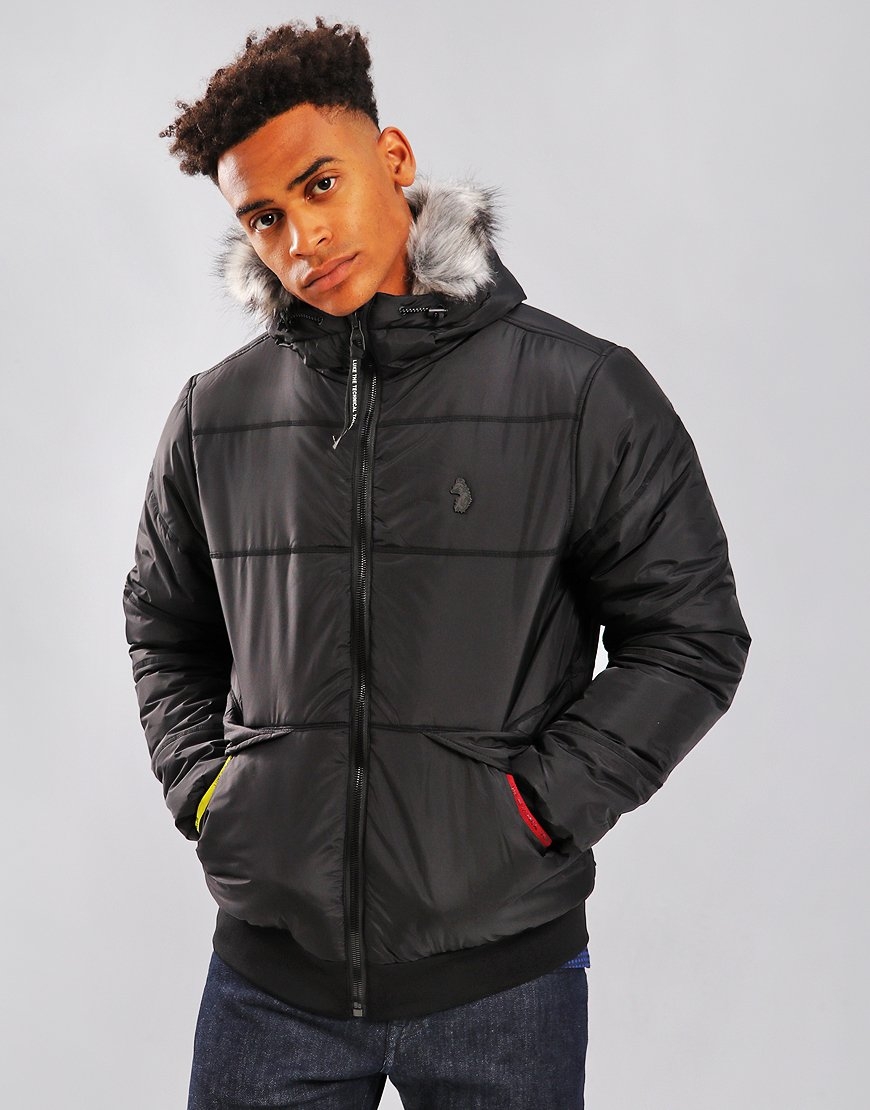 Luke 1977 Forest Quilted Jacket Jet Black