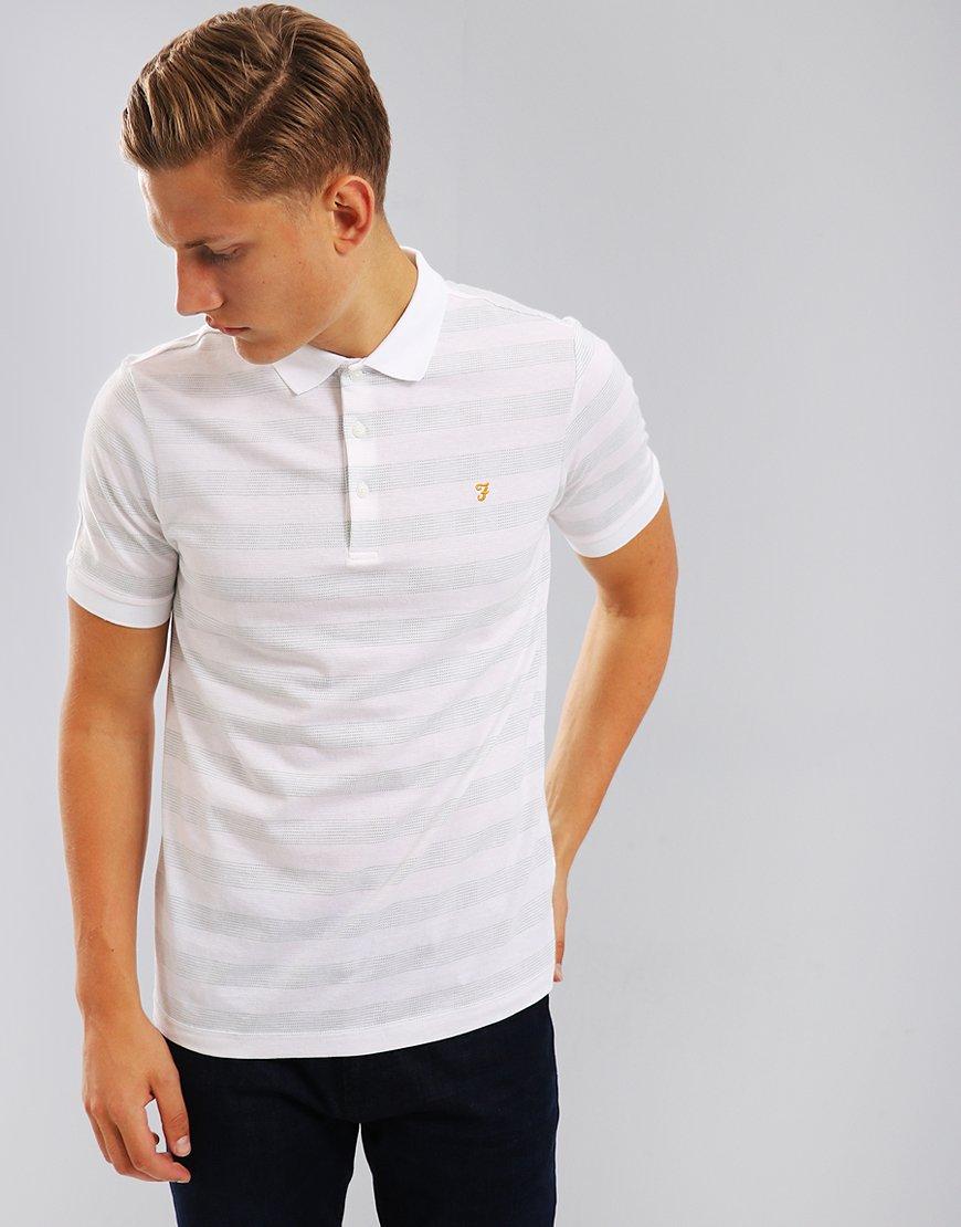 Farah Diamond Polo Shirt White