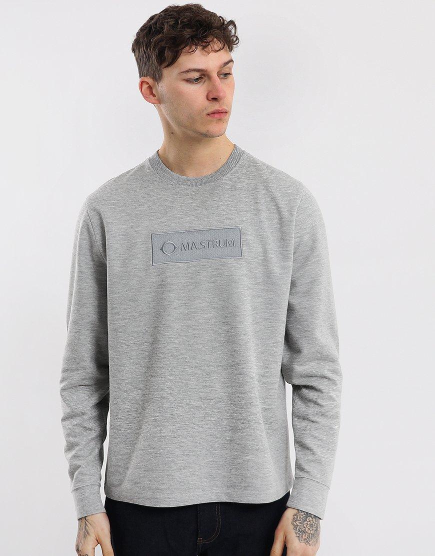 MA.Strum Box Logo Sweatshirt Grey