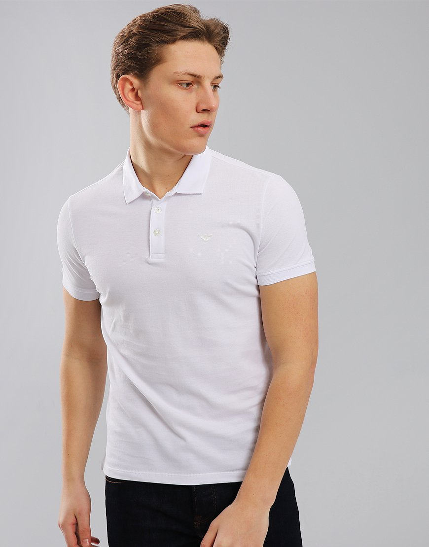 Emporio Armani Short Sleeve Polo Shirt White