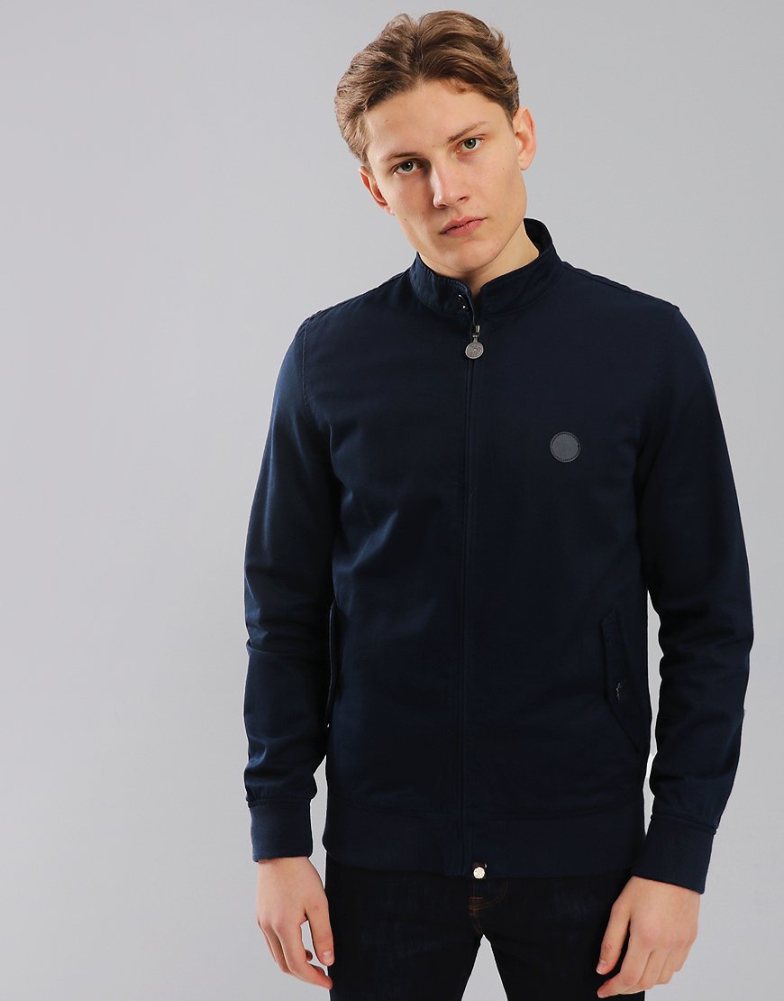 Pretty Green Newton Paisley Lined Harrington Navy