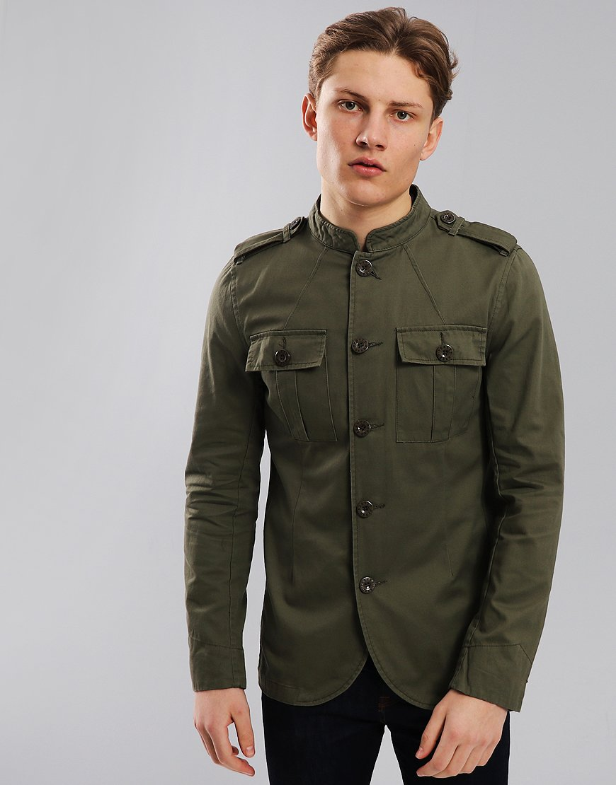 Pretty Green Langford Military Lennon Jacket Khaki