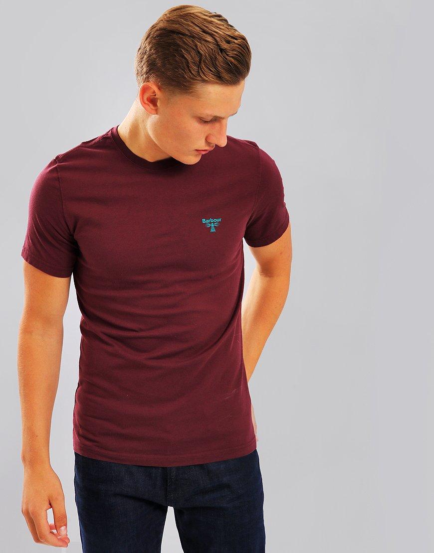Barbour Beacon Logo T-Shirt Merlot