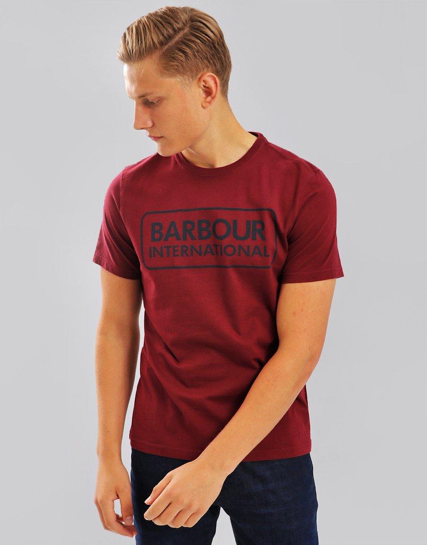 Barbour International Essential Large Logo T-Shirt Port
