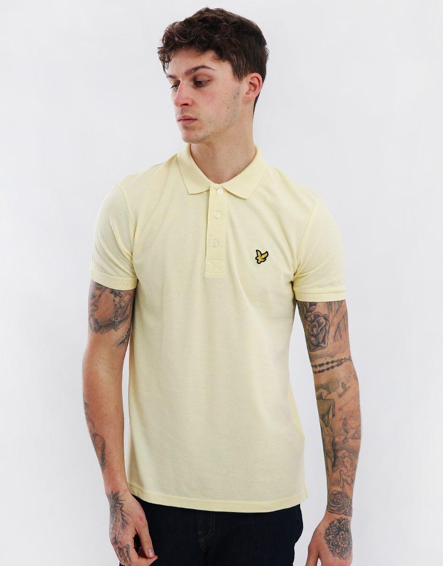 Lyle & Scott Plain Polo Shirt Buttercream