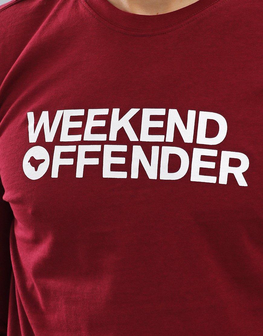 Weekend Offender Oscar Long Sleeve T-Shirt Garnet