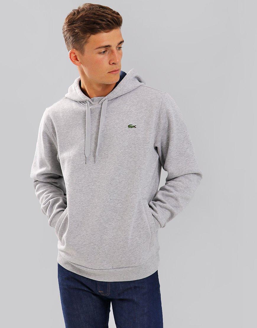 Lacoste Sport Hooded Fleece Sweat  Silver Chine