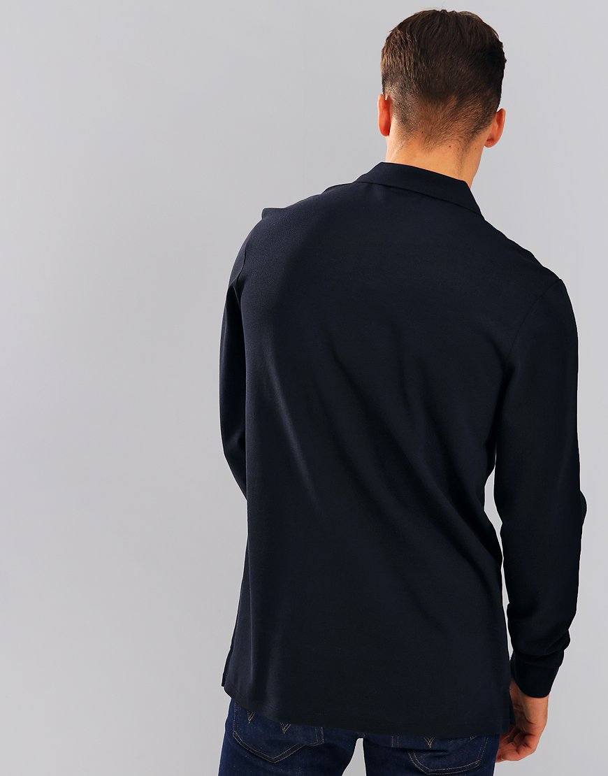 Paul Smith Long Sleeve Polo Shirt Dark Navy