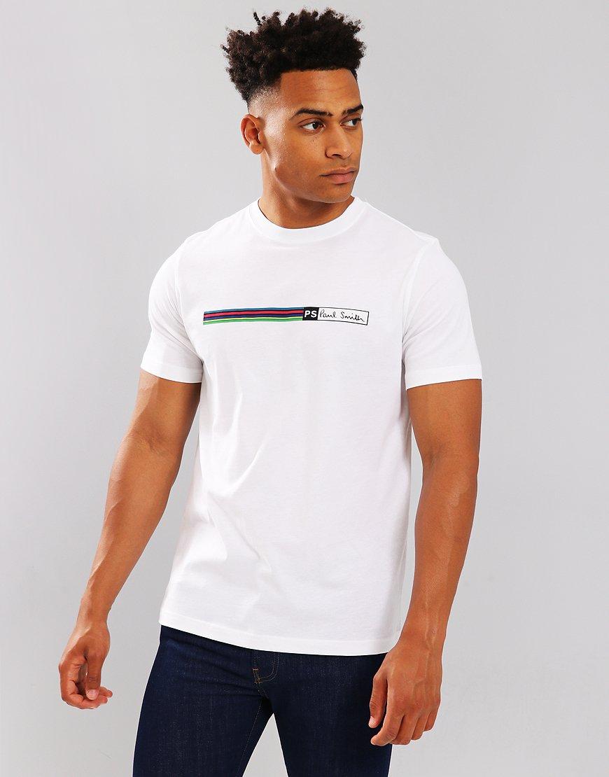 Paul Smith Cycle Stripe Logo T-Shirt White