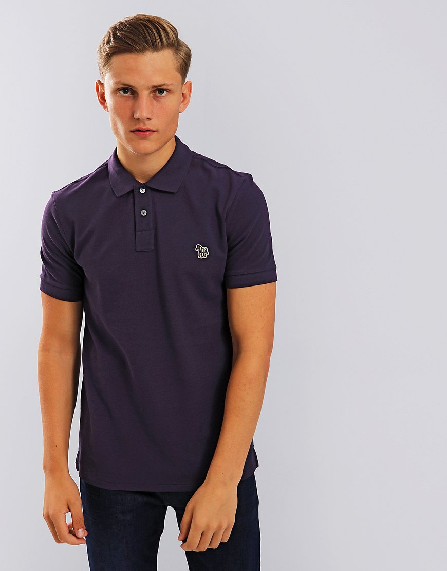 Paul Smith Zebra Logo Polo Shirt Violet