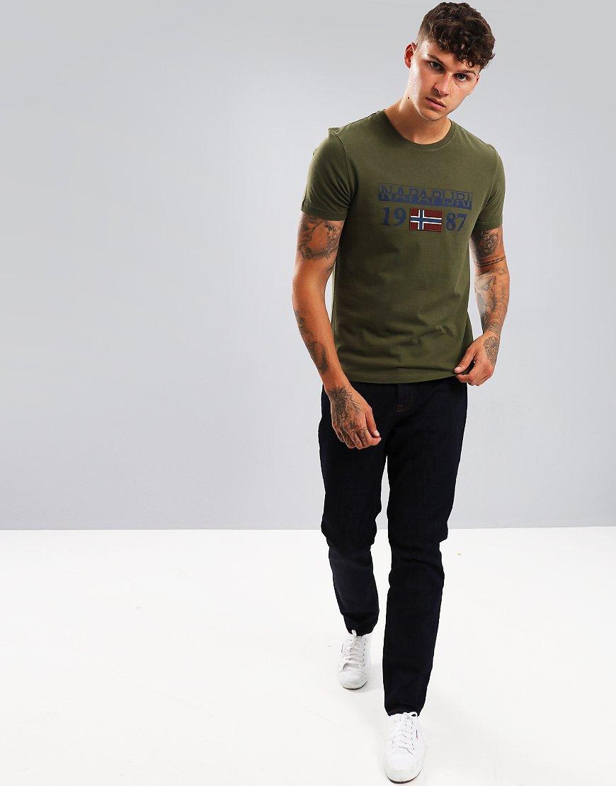 Napapijri Solin T-Shirt Green Musk
