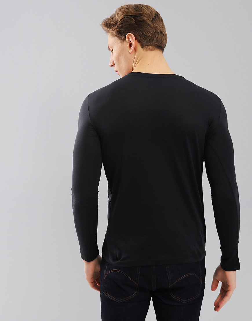 187047e6 Emporio Armani Long Sleeved Eagle T-Shirt Dark Blue - Terraces Menswear