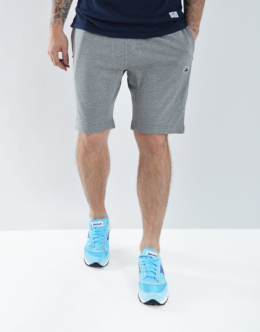 Peaceful Hooligan Track Shorts Marl Grey