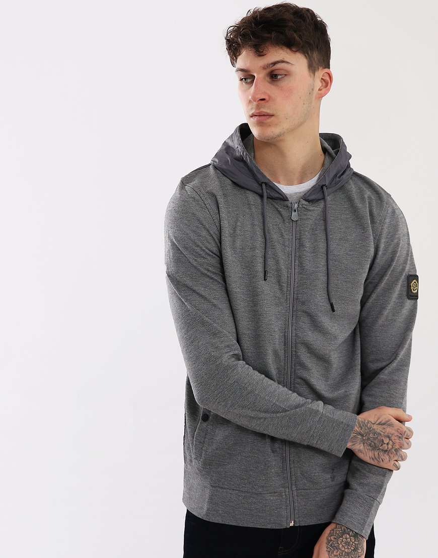 Nicholas Deakins Sunburst Zip Through Hoodie  Grey