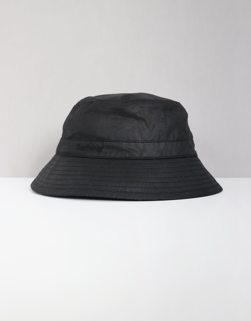 Barbour Wax Bucket Hat Black