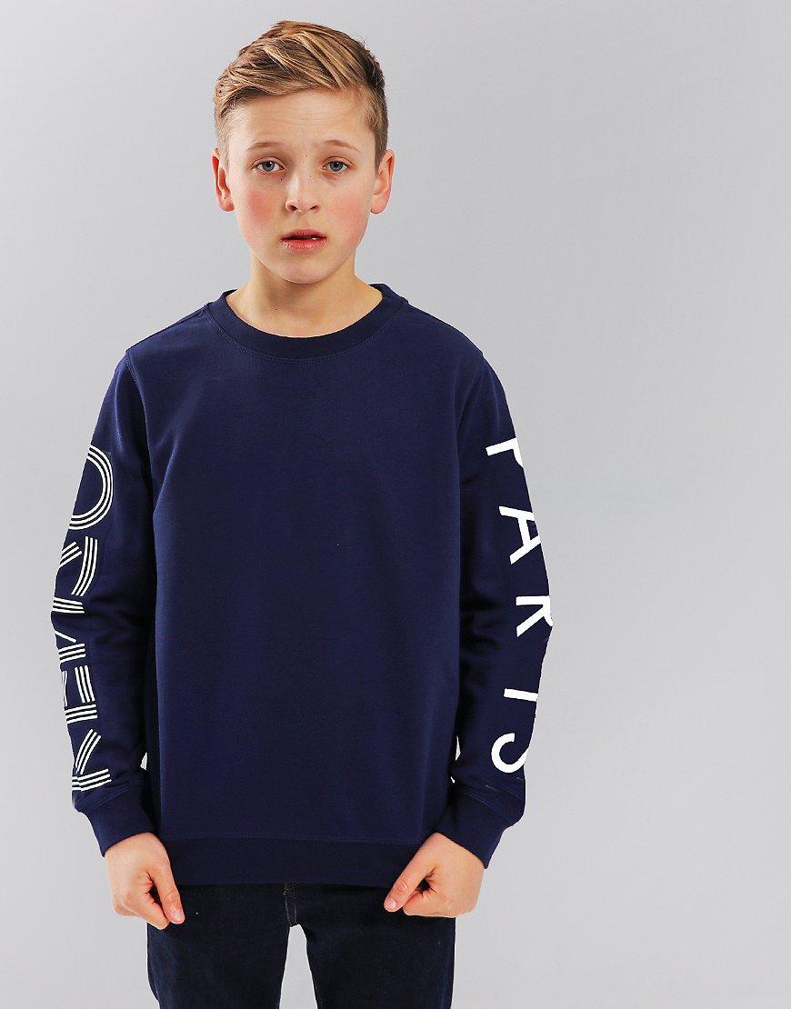 Kenzo Kids JB3 Arm Logo Sweatshirt Navy